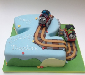 Number 2 Thomas the Tank Engine Cake